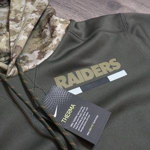 14818ba4277 Nike Jackets & Coats - NFL Oakland Raiders Salute to Service Olive Hoodie